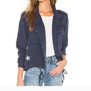 Rails Grant Navy Blue Star Crop Jacket xs